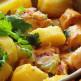 Salada de polvo e batata-doce