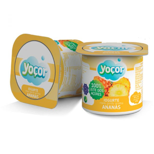 Iogurte Yoçor sólido Ananás Pack4