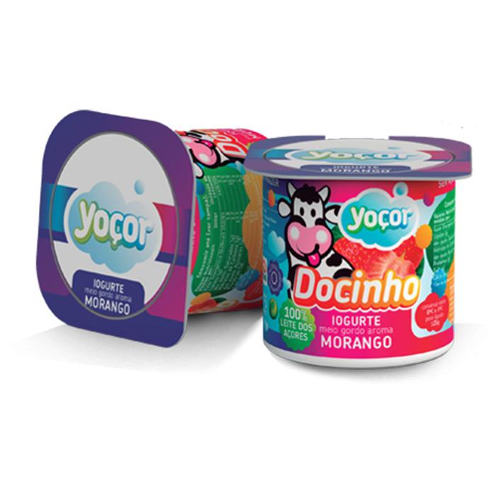 Iogurte Yoçor sólido Docinho Morango Pack4