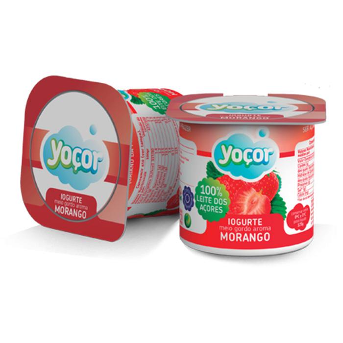Iogurte Yoçor sólido Morango Pack4