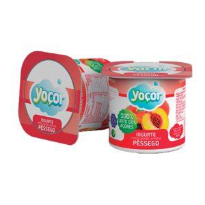 Iogurte Yoçor sólido Pêssego Pack4