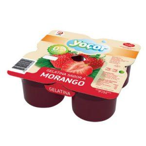 Gelatina Yoçor Morango Pack4