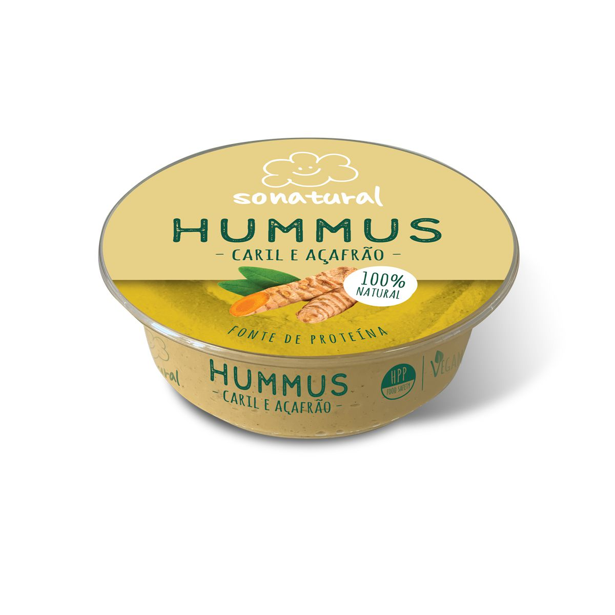 Sonatural Hummus Caril e Açafrão 200gr