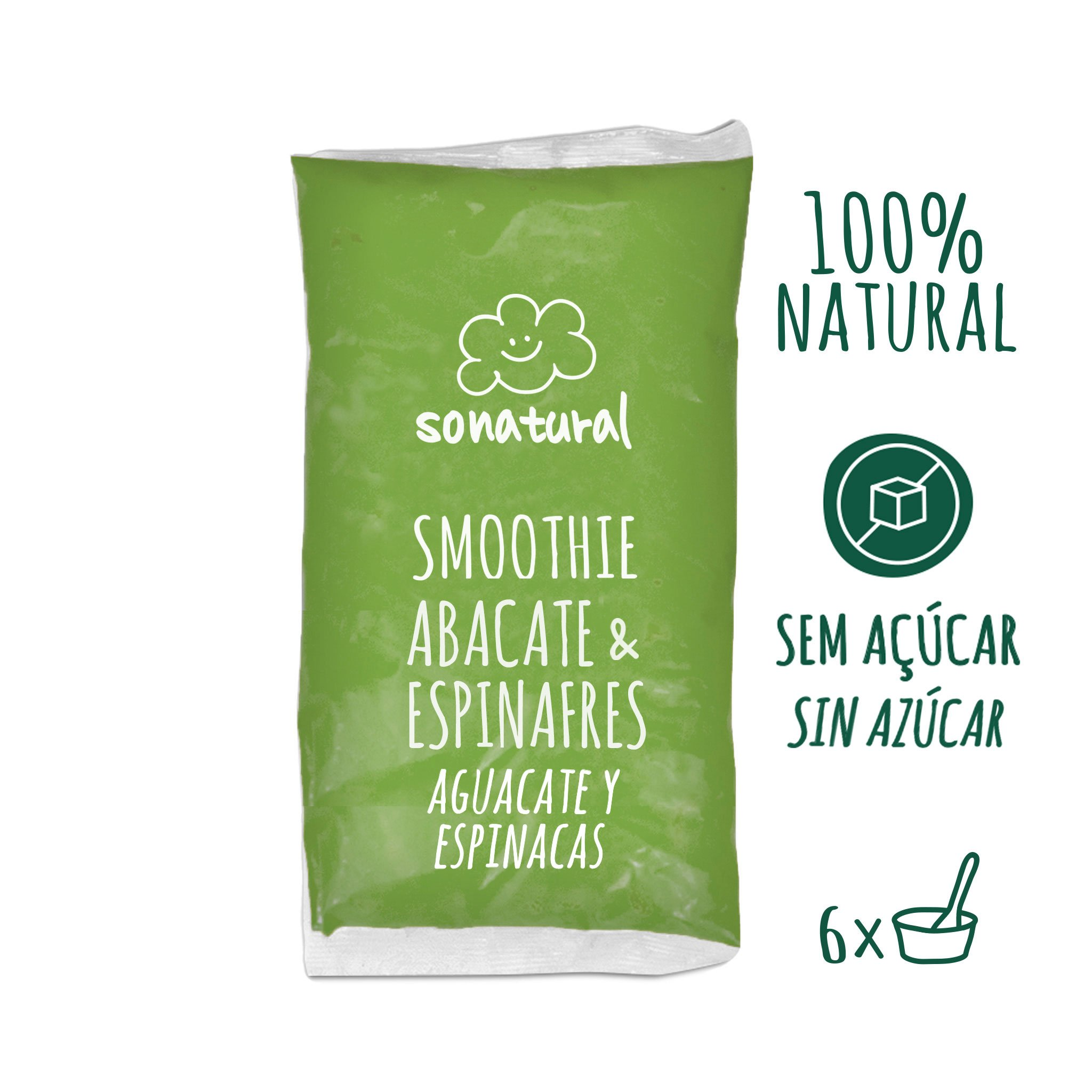 Sonatural Smoothie Abacate e Espinafres 1kg
