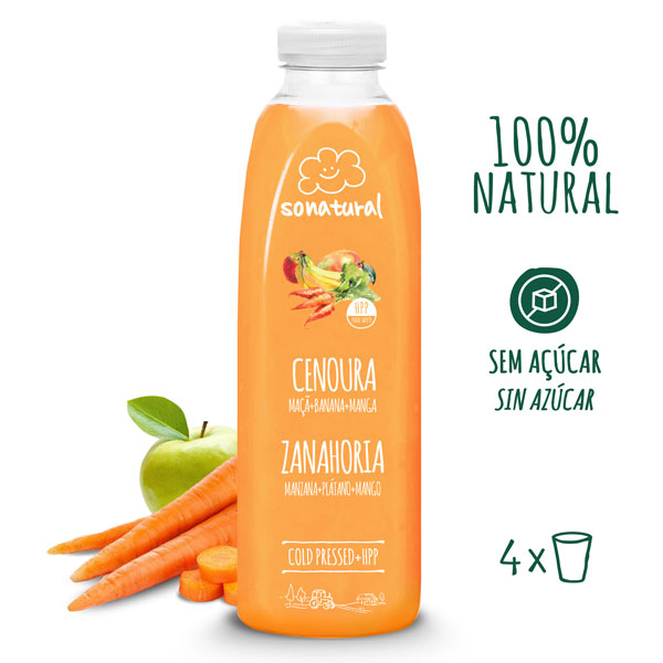 Sonatural Sumo de Cenoura 750 ml