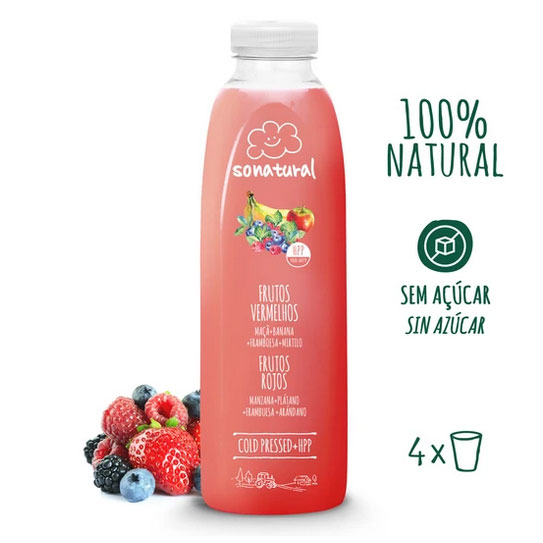 Sonatural Sumo de Frutos Vermelhos 750 ml